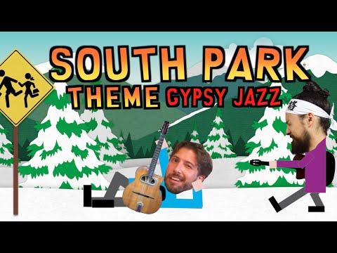 """South Park Theme"" - samuraiguitarist and Chad Neidt (Gypsy Jazz Cover)"