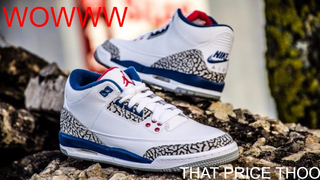 594937e30e1024 DHGATE JORDAN 3 TRUE BLUE !!!🔵🔴 - YouTube