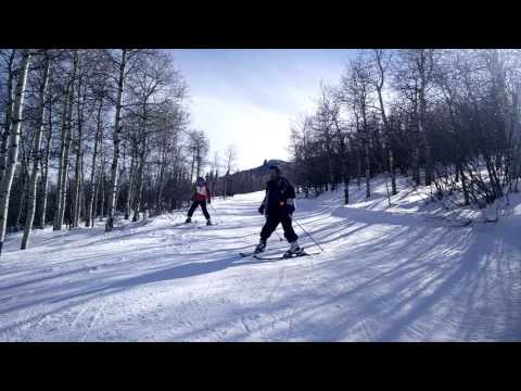 Howelsen Hill Ski Area, Steamboat Springs, CO - Downhill on Long John's with Brother Jon