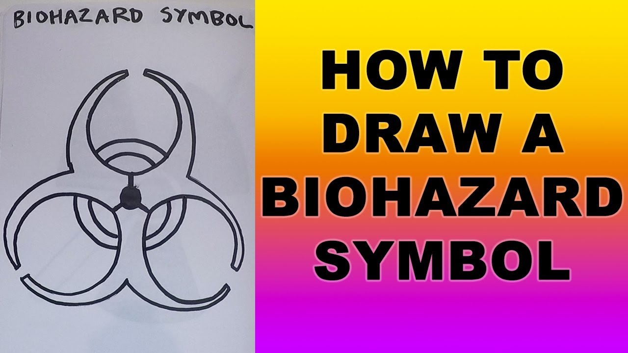 How To Draw A Biohazard Symbol Youtube