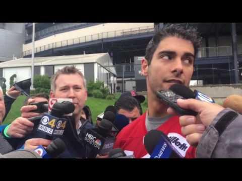 Jimmy Garoppolo says Tom Brady 'is like a big brother '