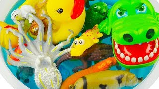 Fish Duck Cow Pig Horse Toy Collection for Kids Animals Sounds Sea Animal Toys