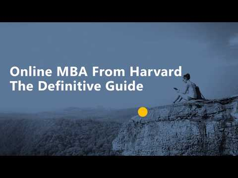 Online MBA From Harvard - The Definitive Guide