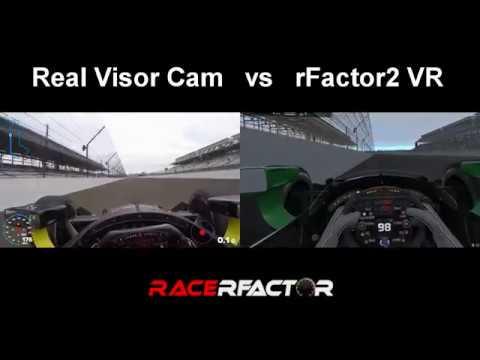 Indycar at Indianapolis - Real View vs Virtual Reality (rFactor 2)