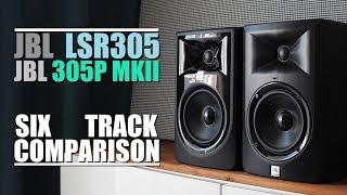 jBL 305P MKII vs JBL LSR305    6-Track Comparison