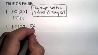 sets elements subsets proper subsets