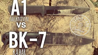 Ka Bar BK7 vs Fallkniven A1 Survival Knife Comparison