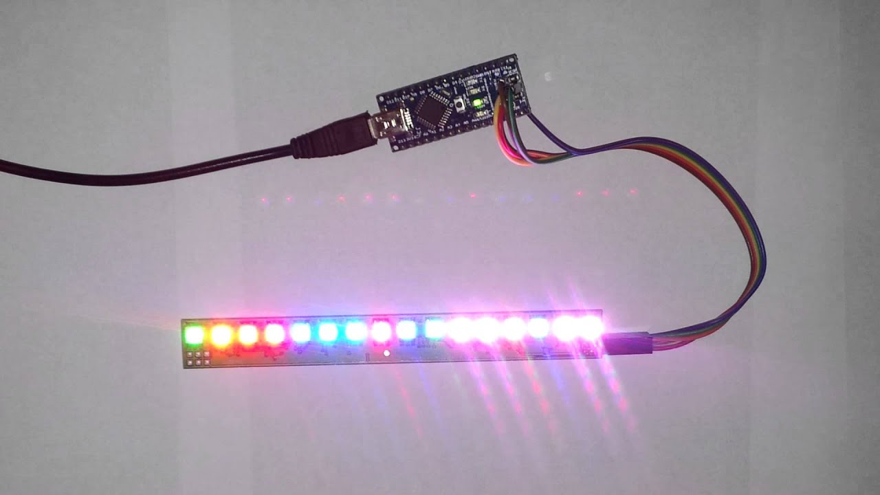 Beyondrc Com 16 Rgb Leds Module Controled By Arduino Nano