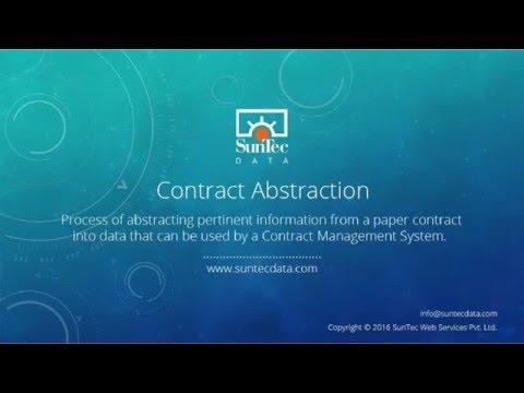 Contract Abstraction   SunTecData