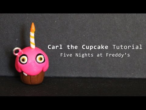 Five nights at freddys cupcake polymer clay