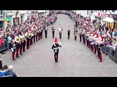 The Band of the Blues & Royals - Marching and Public concert in Solothurn, Switzerland