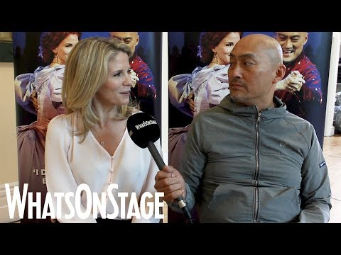 Kelli O'Hara, Ken Watanabe and Bartlett Sher  The King and I launch