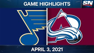 NHL Game Highlights | Blues vs. Avalanche - Apr. 3, 2021