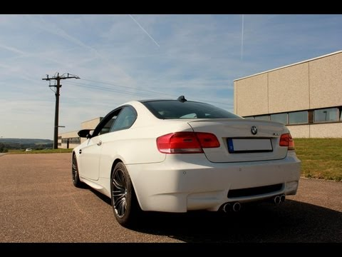 BMW M3 E92 (E90) - Brutal acceleration V8 sound and top speed HD
