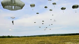 US Army Airborne & Allies Drop Into Eastern Bavaria, Germany