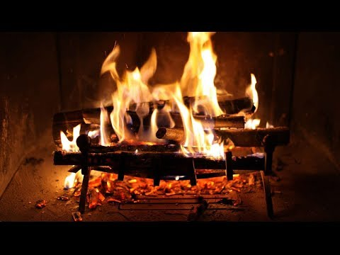 Relaxing Fireplace and Perfect Crackling Fire  Belle Chemine Et Parfait Crpitement du Feu  HD