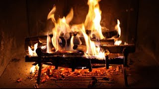 Repeat youtube video RELAXING FIREPLACE With Perfect Crackling Fire ♫ Cheminée Crépitante Très Relaxante 🎧 TV RELAX