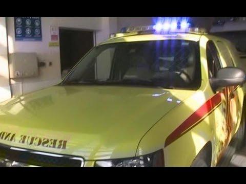 Dubai Civil Defense Al Ras Station Chevy Tahoe command car walk around with lights on