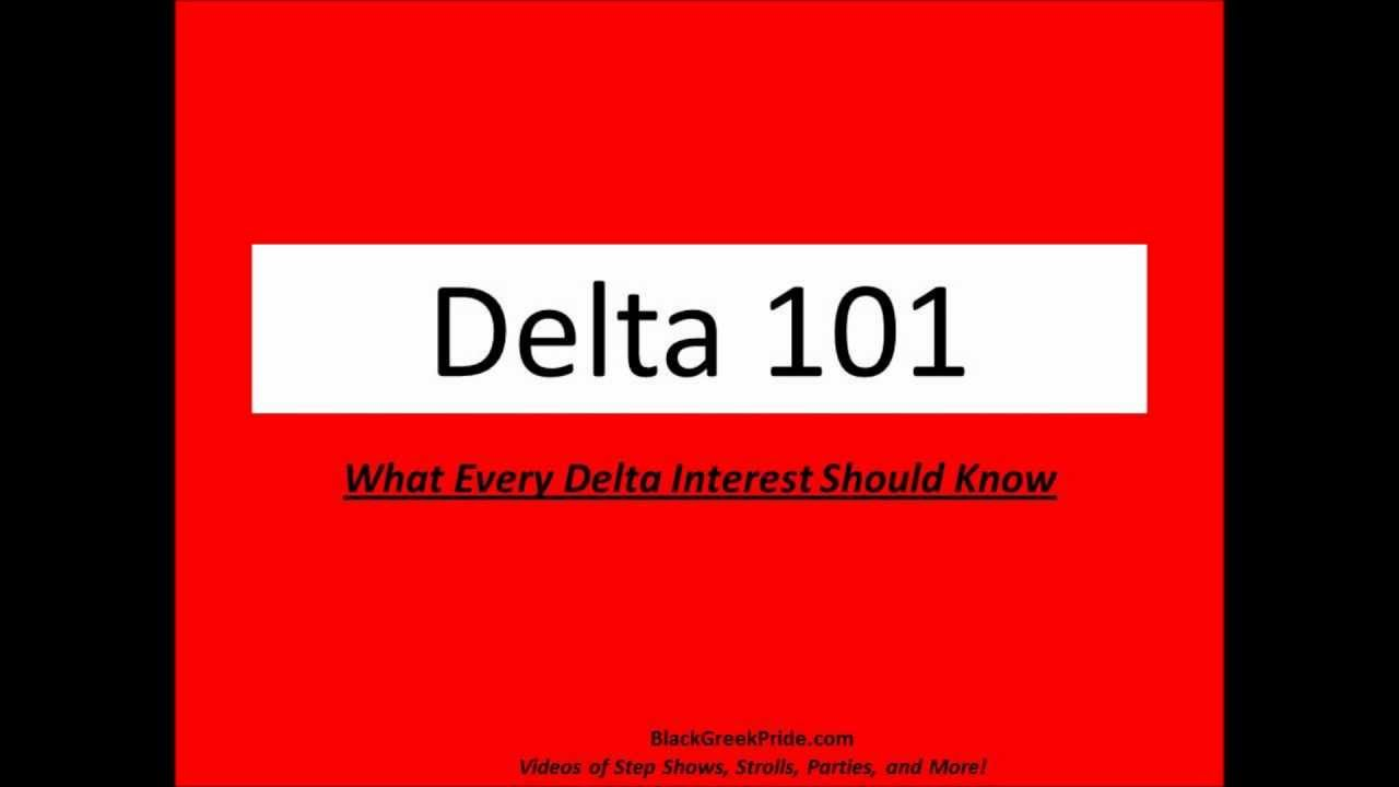 Delta 101 what every delta interest should know youtube buycottarizona Choice Image