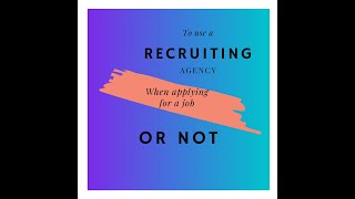 How to get your application reviewed | To use a recruiter or not?