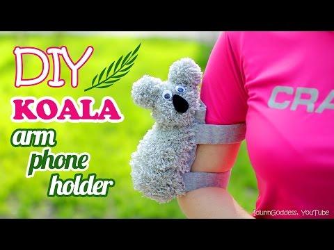 How To Make A Koala Arm Phone Holder – DIY Phone Case For Arm – Koala Armband