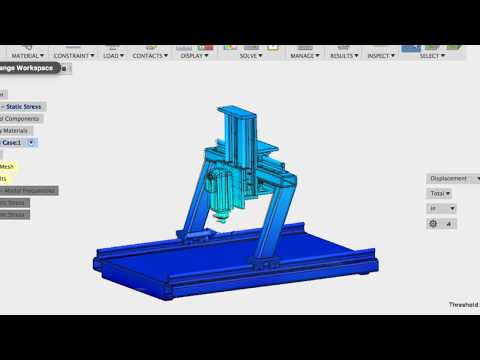 DIY CNC Machine design Physics - Part3 Vibrations (modal analysis)