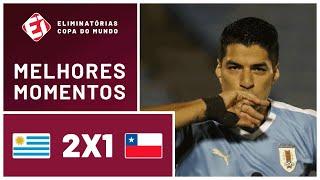 URUGUAI 2 X 1 CHILE - MELHORES MOMENTOS - ELIMINATÓRIAS DA COPA DO MUNDO (08/10/2020)