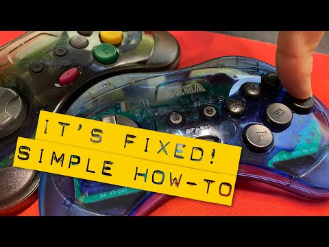 How-to Fix Retro-Bit Sega Saturn Wireless Controller – Sticking Buttons