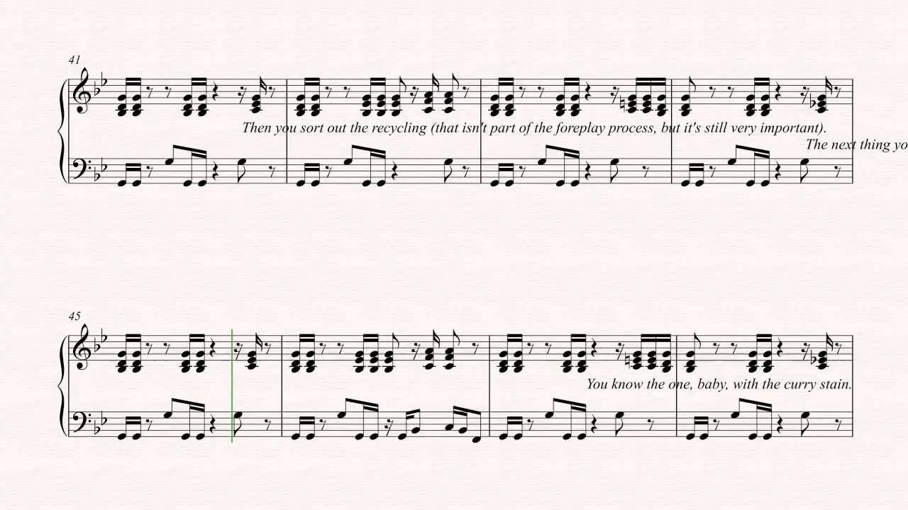 89907781 Piano - Business Time - Flight of the Conchords - Sheet Music, Chords, &  Vocals