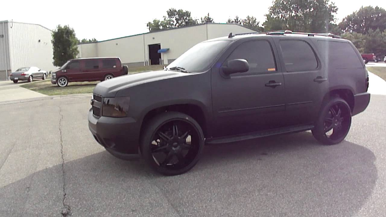 AJ Green's Matte Black Chevy Tahoe, Spade Kreations - YouTube