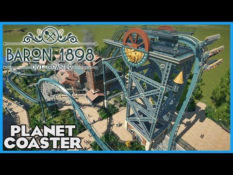 BARON 1898! Recreation from Efteling! Coaster Spotlight 298 #PlanetCoaster