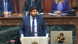 Fernando López Miras, investido presidente de la Región de Murcia