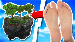 Playing Skyblock With My Feet...   Minecraft Skyblock