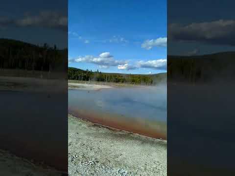 😮Funny sounding geyser💦 Yellowstone National Park