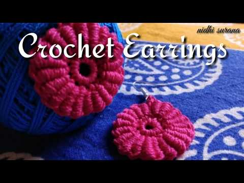 💖 How to make Crochet Earrings 💖| Bullion Stitch