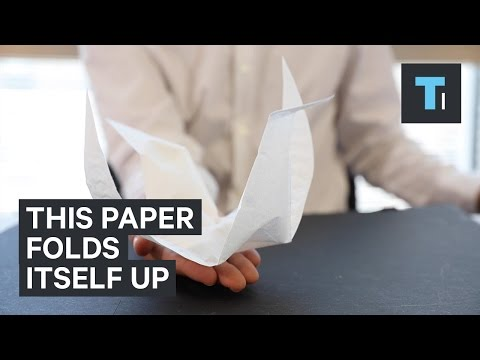 This intelligent paper can fold itself into origami cranes