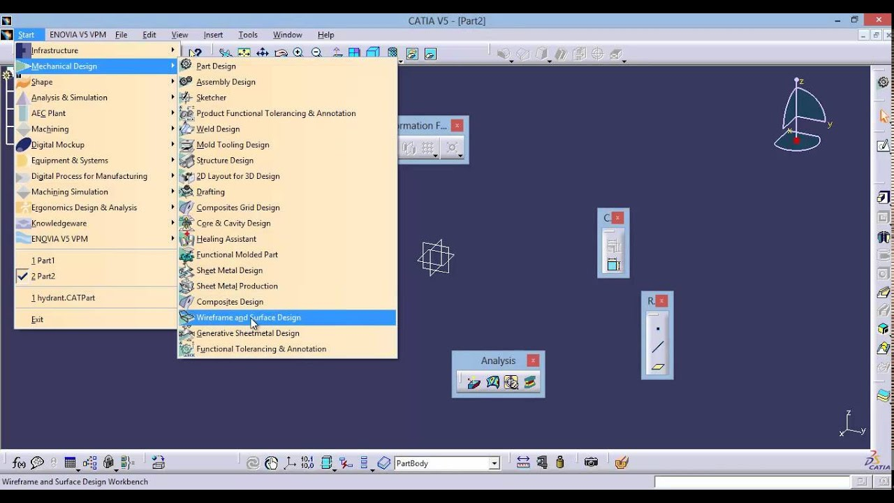 Catia Video Tutorial-2-introduction To Userinterface  U0026 Workbenches