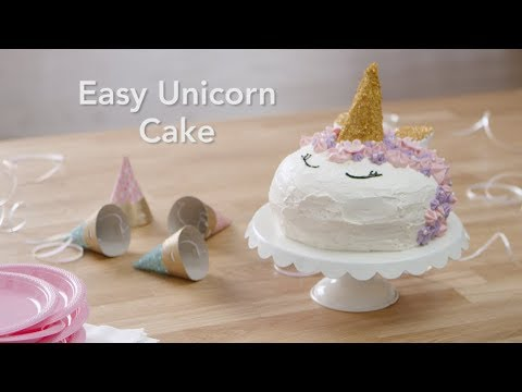 How To Make Easy Unicorn Cake Youtube