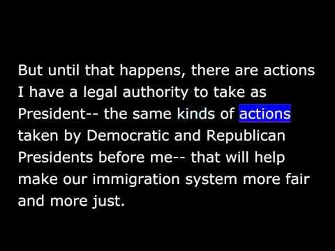 President Obama -  Weekly Address - Nov 22nd, 2014 - Immigration Accountability Executive Action