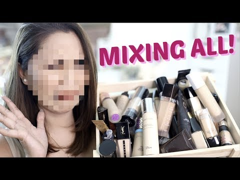 MIXING All My Foundations | Anna Cay ♥