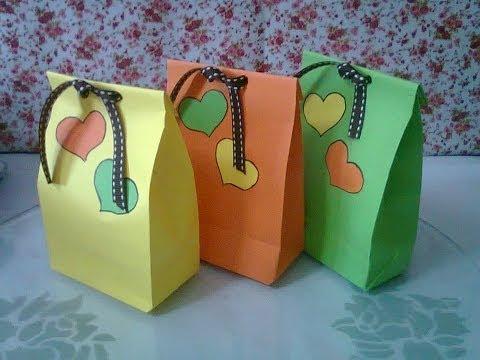 DIY #1 | Cute Paper Bags For Gift ♥