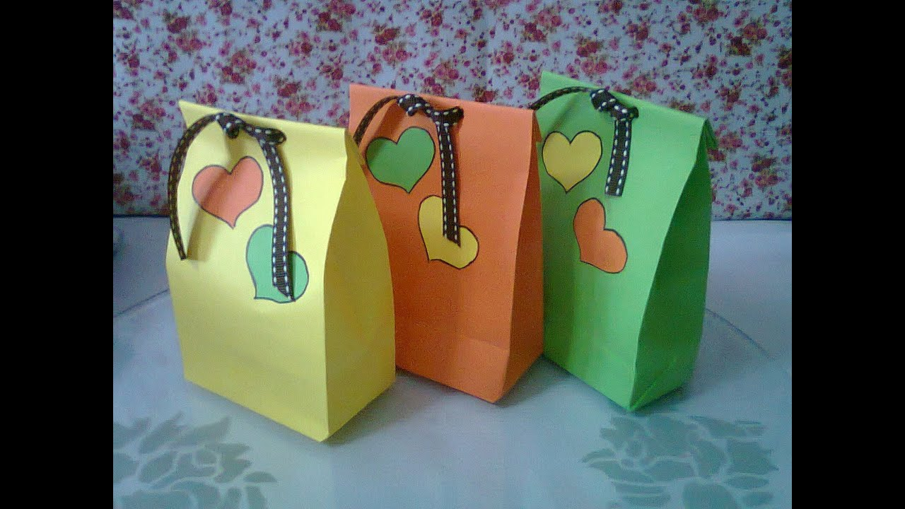 acc39765d8 DIY    1 Cute Paper Bags For Gift ♥ - YouTube