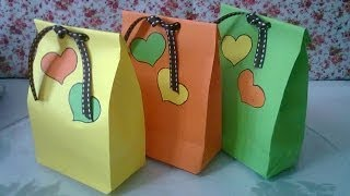 DIY #1 | Cute Paper Bags For Gift ♥