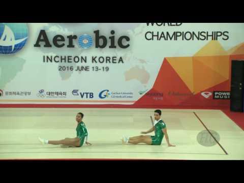 Algeria  (ALG) - 2016 Aerobic Worlds, Incheon (KOR) - Qualifications Mixed Pair