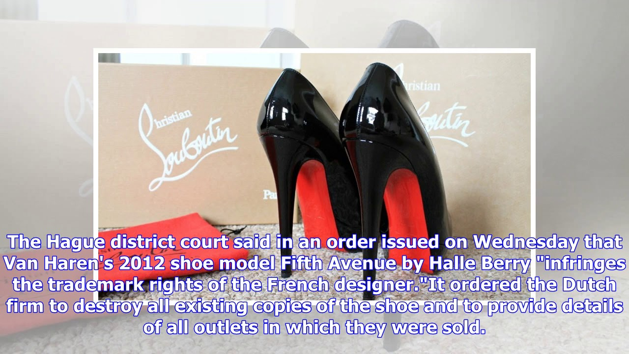8f074d4b821 Louboutin wins Dutch court battle over red-soled shoes - YouTube