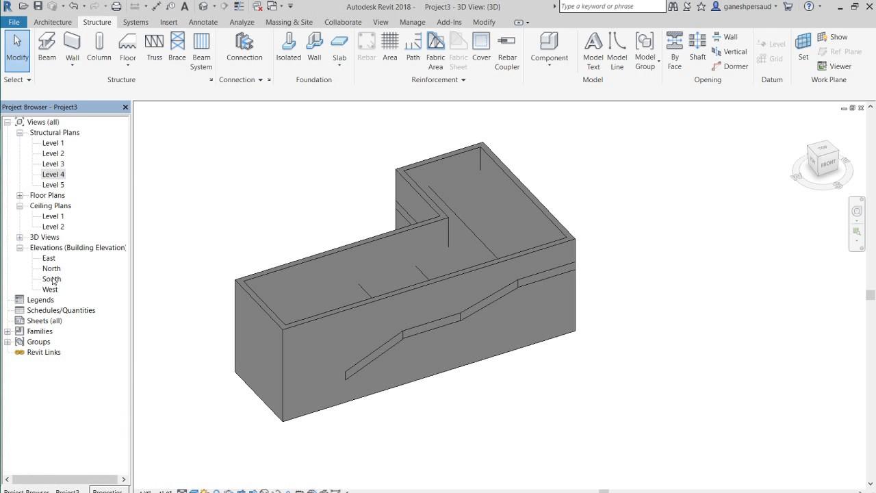 How to model an Irregular Shape Multiple Sloped Swimming Pool in ...