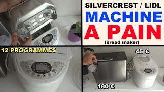 machine a pain lidl silvercrest sbb 850 a1 présentation bread maker brotbackautomat