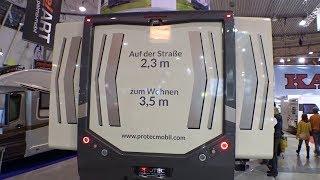 Protec Reisemobil: Innovation: Doppel slide-out über die gesamte Fahrzeuglänge