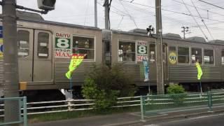 福島交通(飯坂電車)7000系と並走〜Running parallel to Iizaka Train