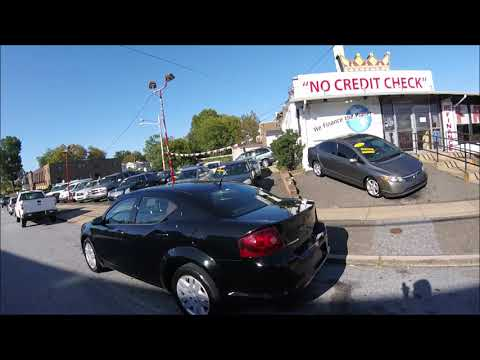 2012 Black /Gray Dodge Avenger (1C3CDZAB1CN) with an 2.4L L4 DOHC 16V engine, 4-Speed Automatic transmission, located at 577 Chester Pike, Prospect Park, PA, 19076, (610) 237-1015, 39.886154, -75.302338 - Photo #0